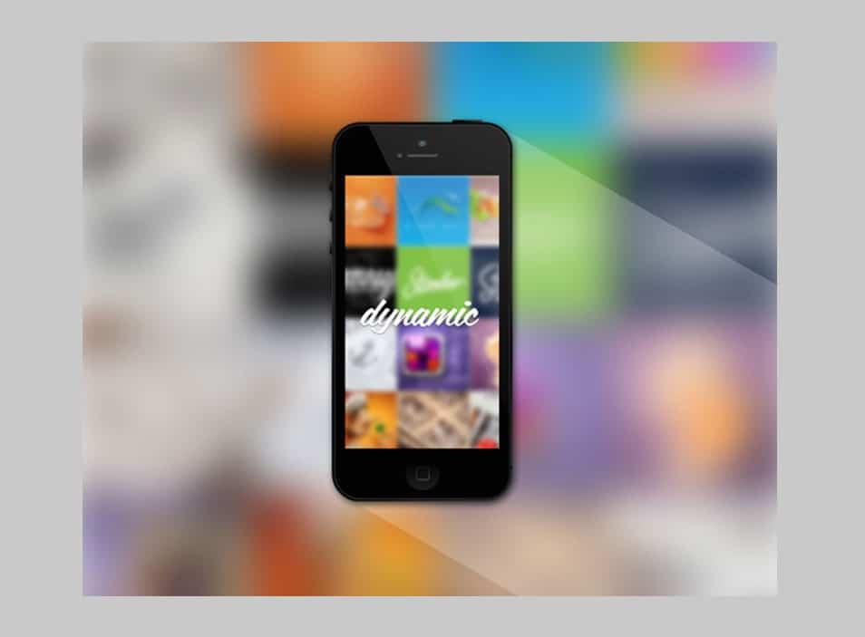 Black Iphone 5 Mockup Template (Psd)