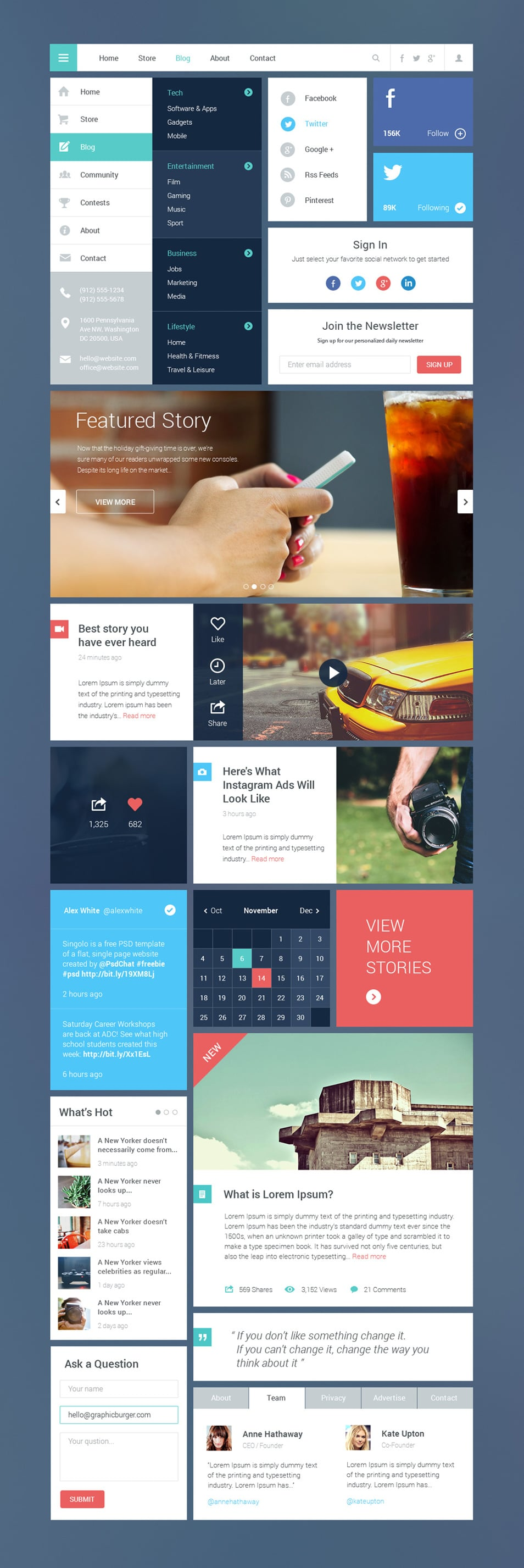 Blog / Magazine UI Kit