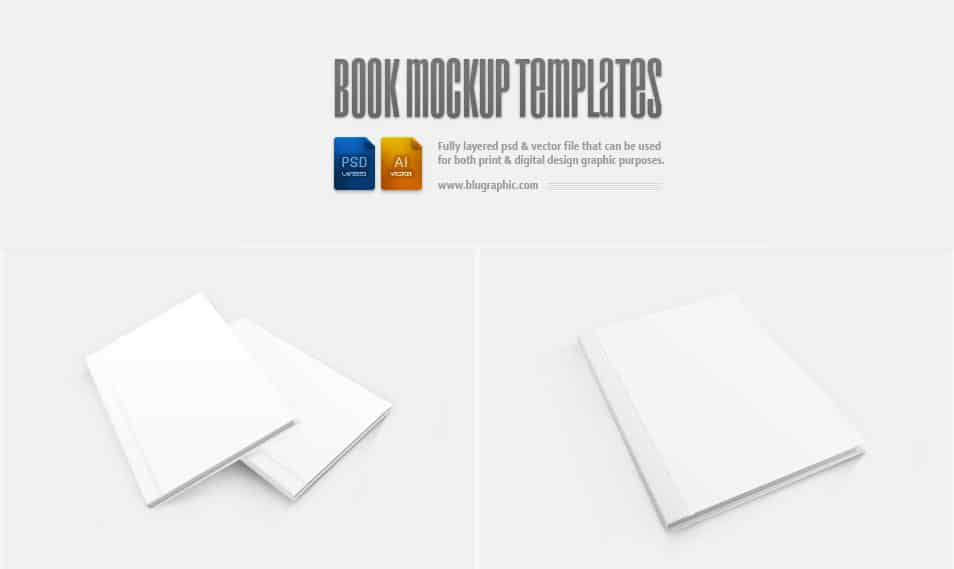 Book Mockup Template (Psd)