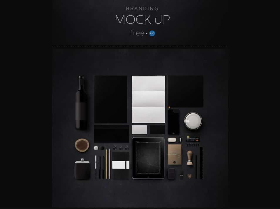 Branding Mock Up   Free PSD