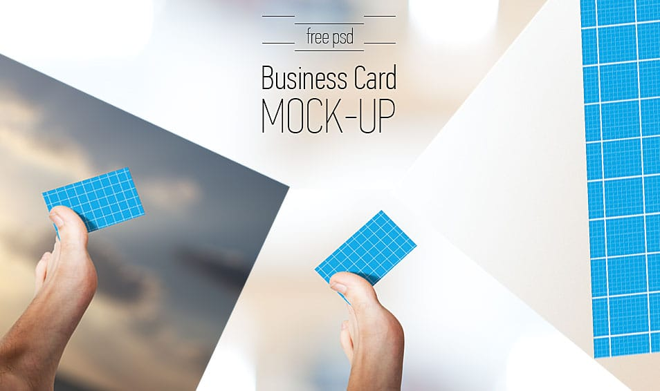 Business Card Mock-Up | Free PSD