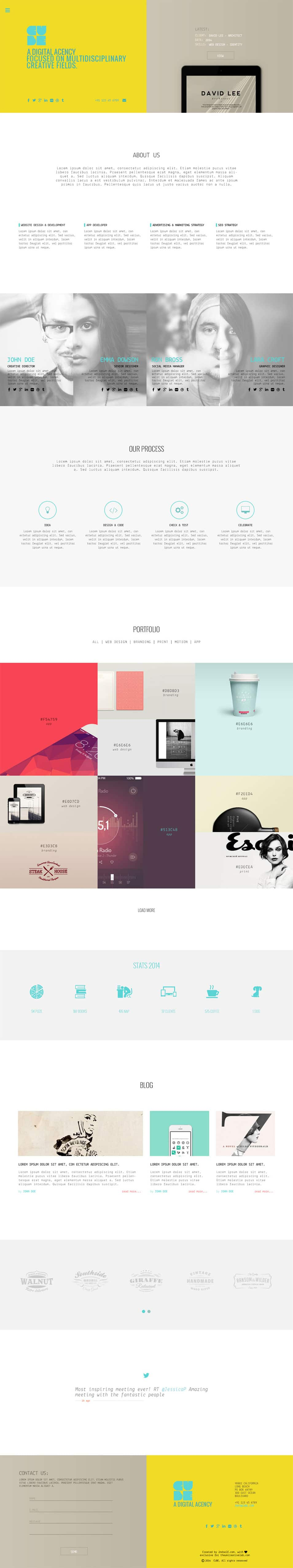 CUBE Free PSD Template