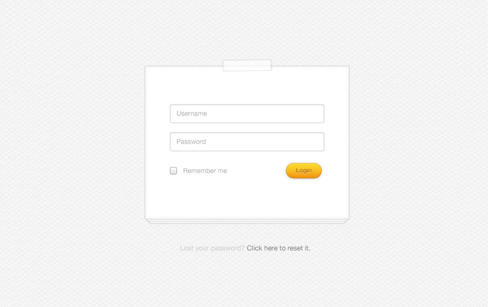 Clean Login Form