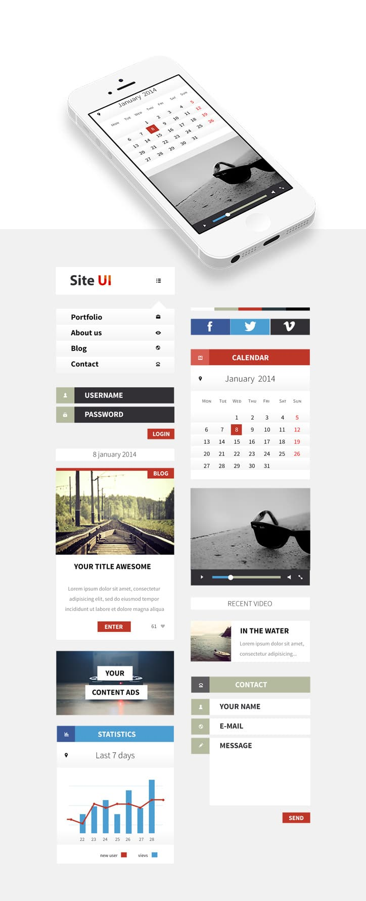 Clean Mobile UI Kit