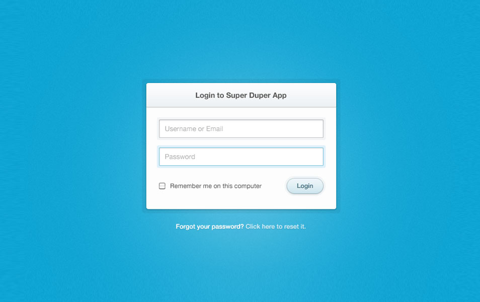Clean and Simple Login Form PSD