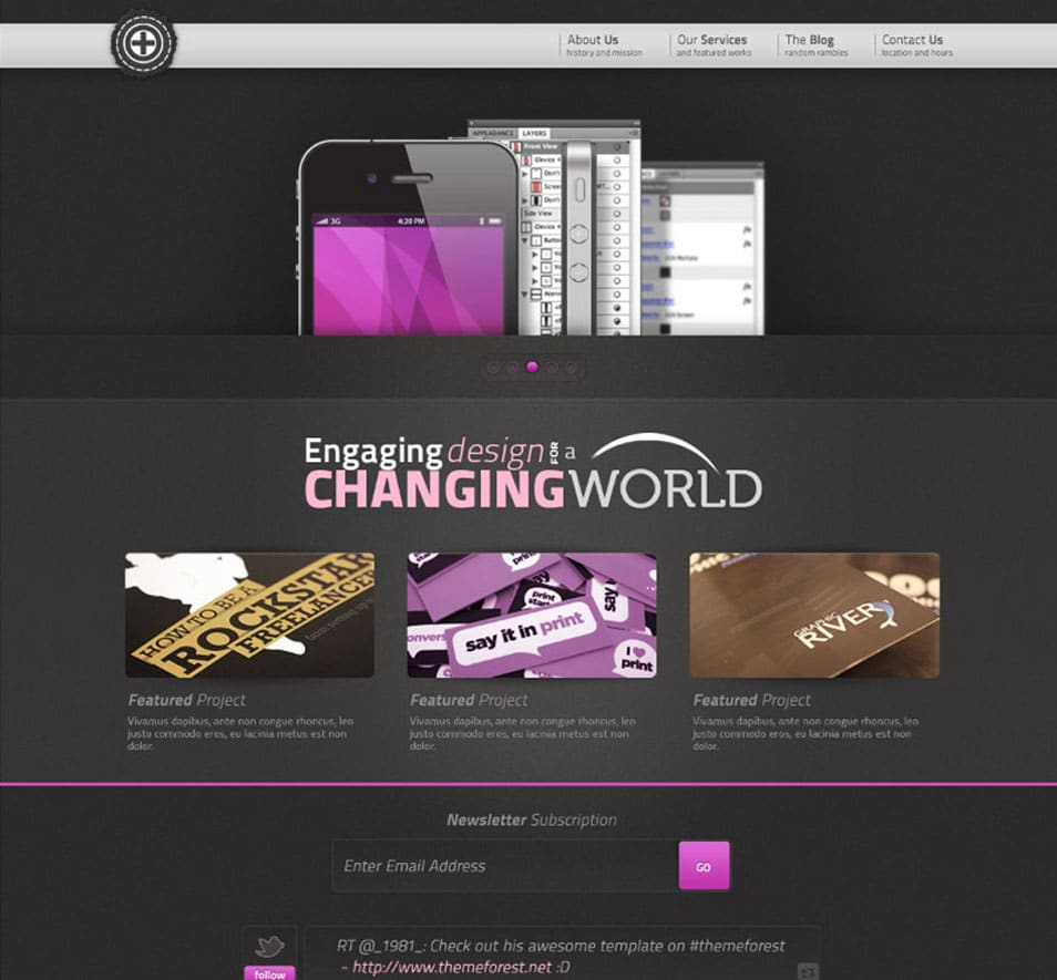 Creative Portfolio Website Template PSD