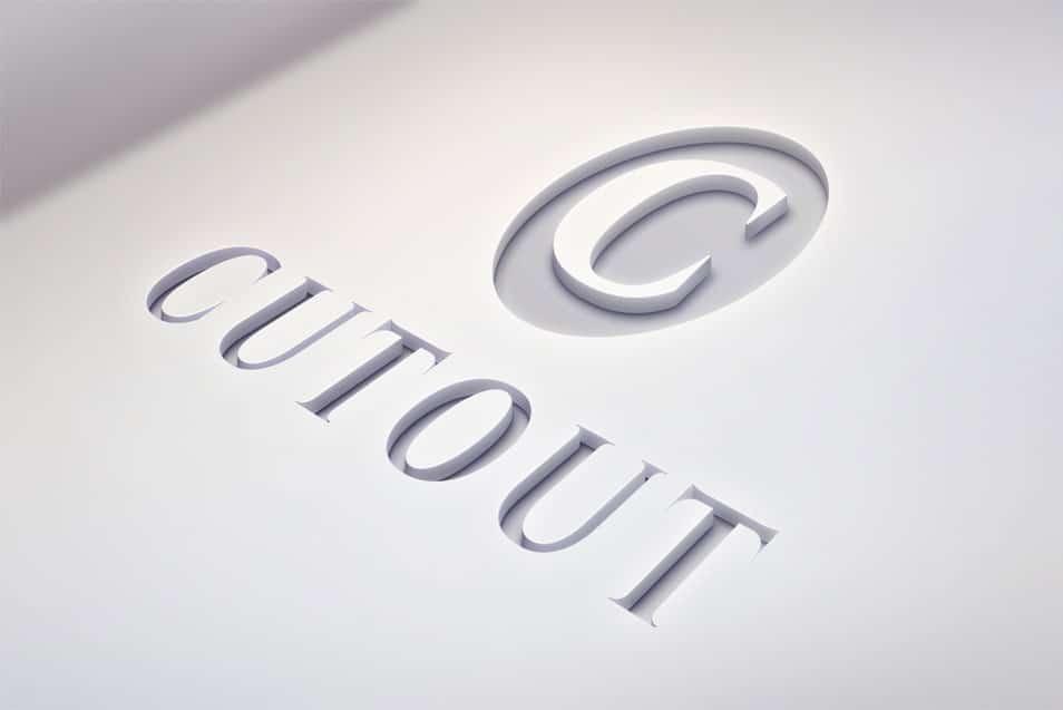 Cutout Logo MockUp