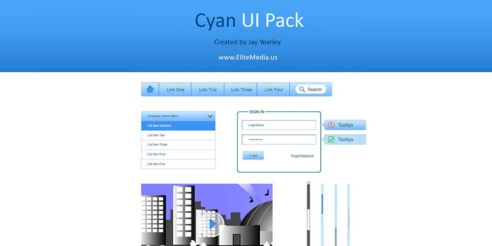Cyan UI Pack