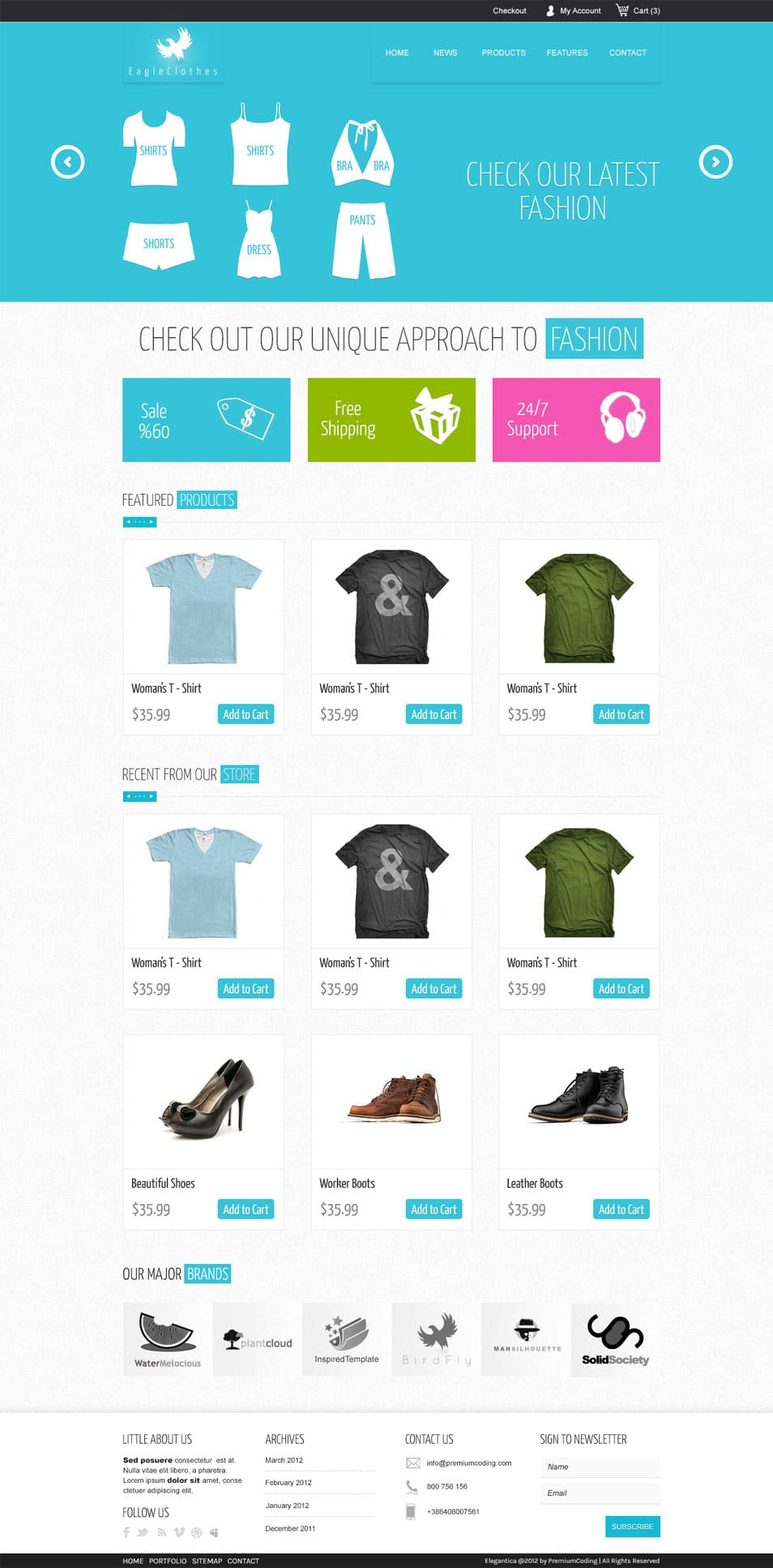 Ecommerce Website Template (PSD)