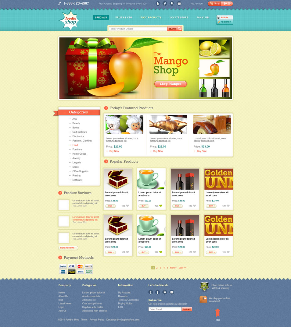 Latest Free Web Page Templates PSD » CSS Author