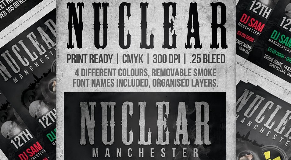 FREE Nuclear Flyer Template (PSD)