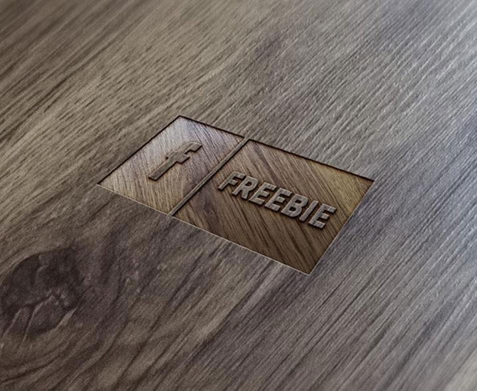 FREE Wood Logo Mock-Up