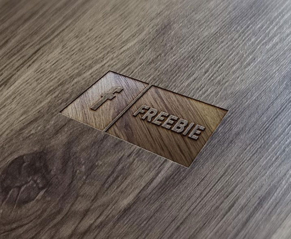 FREE Wood Logo Mock-Up