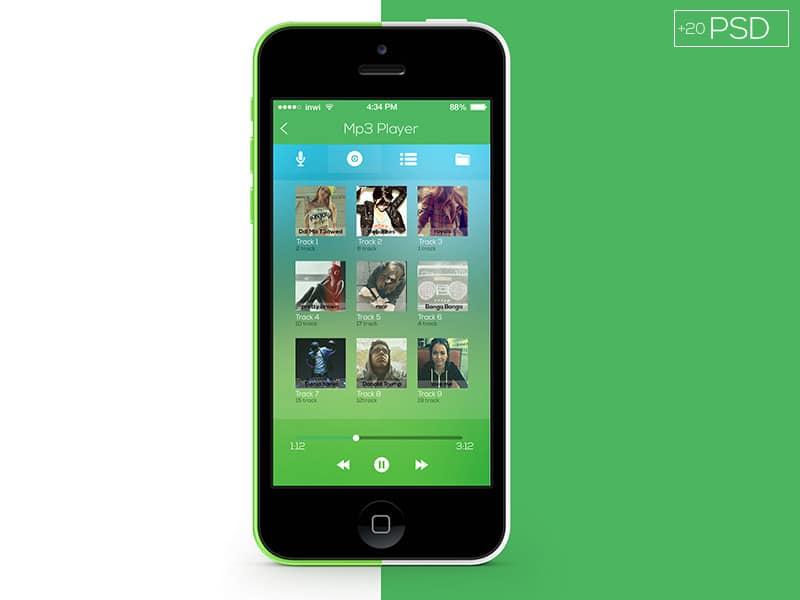 Flat App UI Kit PSD