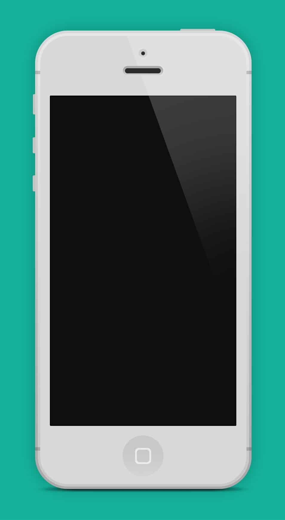 Flat iPhone 5 Black & White - PSD