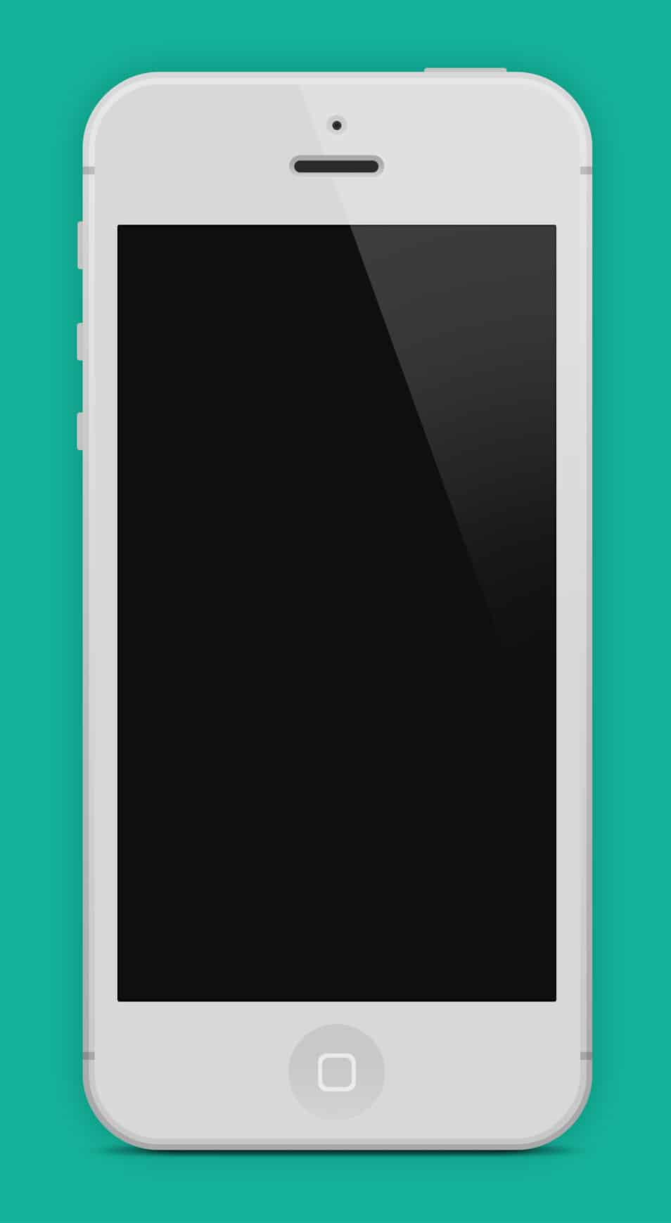 Flat iPhone 5 Black & White - PSD