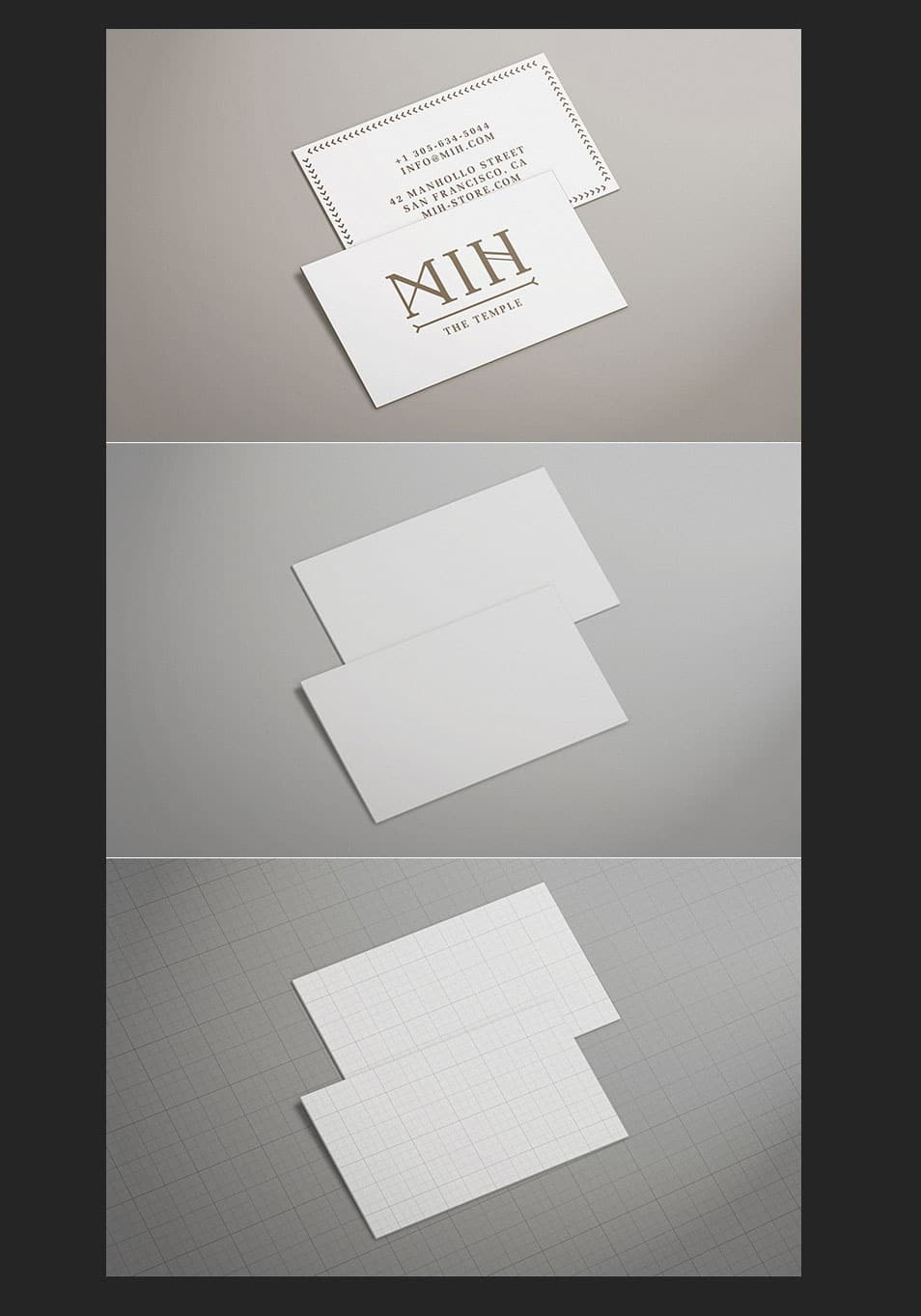 Free – Business Card Mock Up – Pack 1 – Thick edge colored