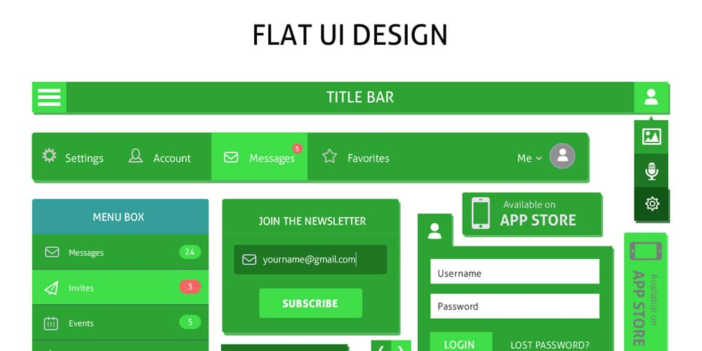 Free Flat UI