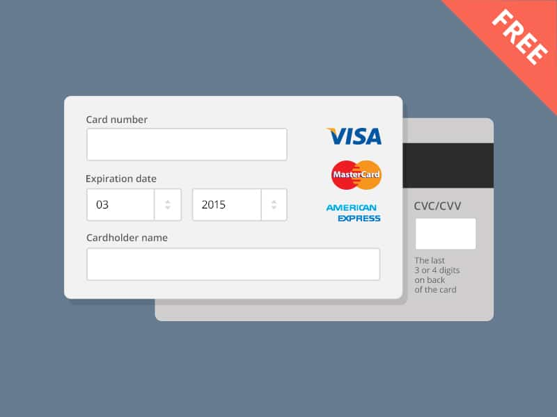 Free Payment Form PSD