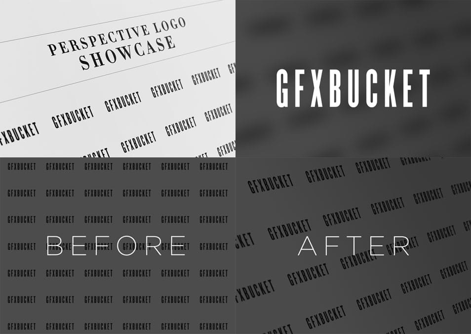 Free Perspective Logo Showcase Mock-up