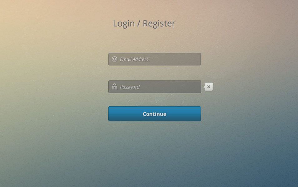 Free Register or Login Screen PSD