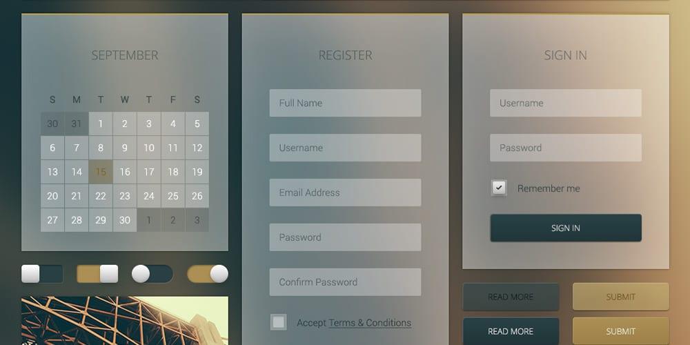 Free Transparent UI Elements