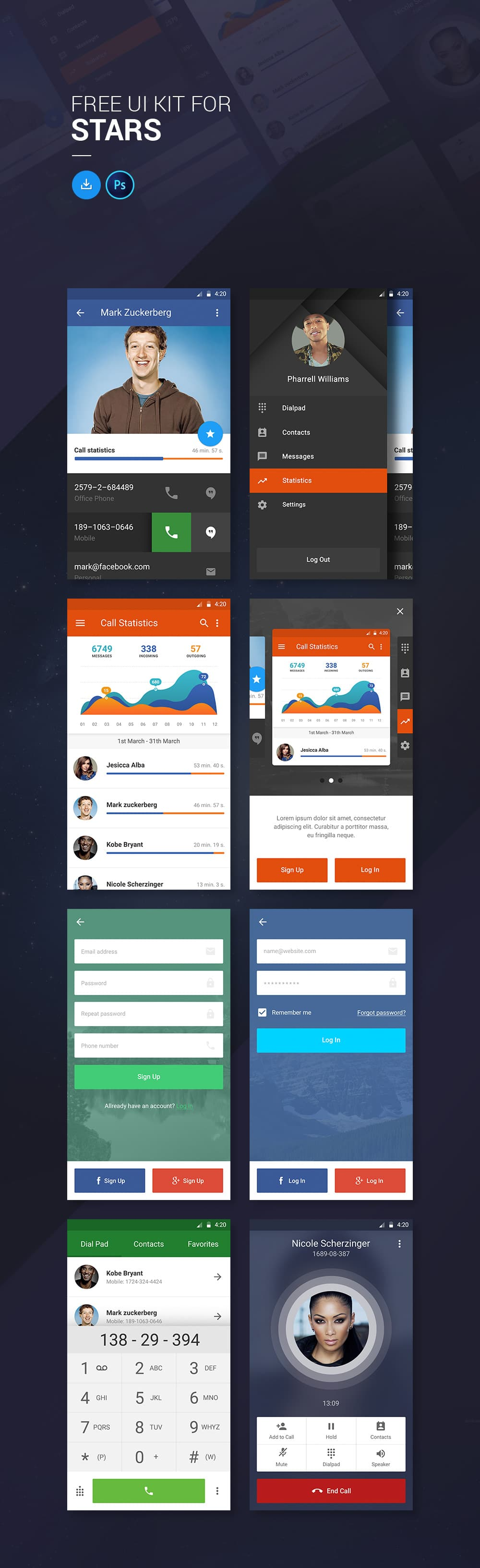 Free Ui Kit For Stars