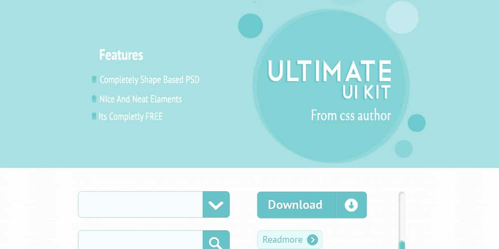 Free Ultimate UI Kit PSD