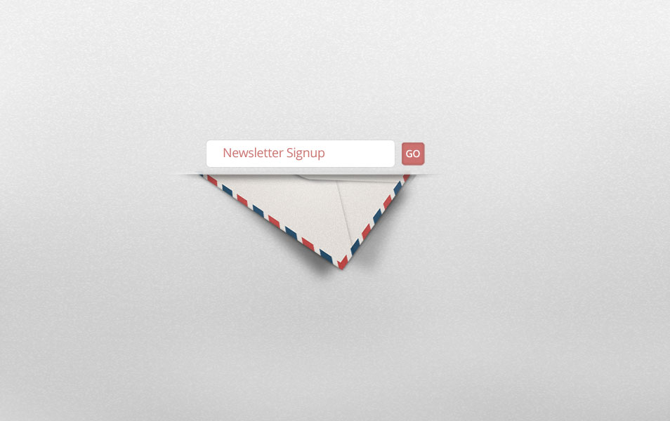 Free sign up newsletter PSD