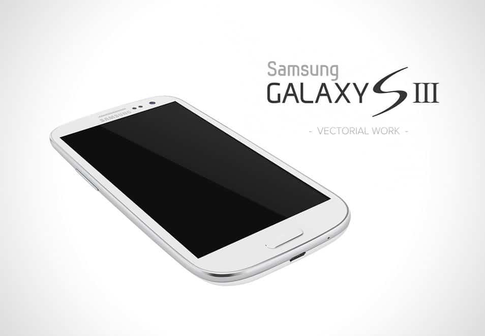 Galaxy S3 White - vectorial concept design
