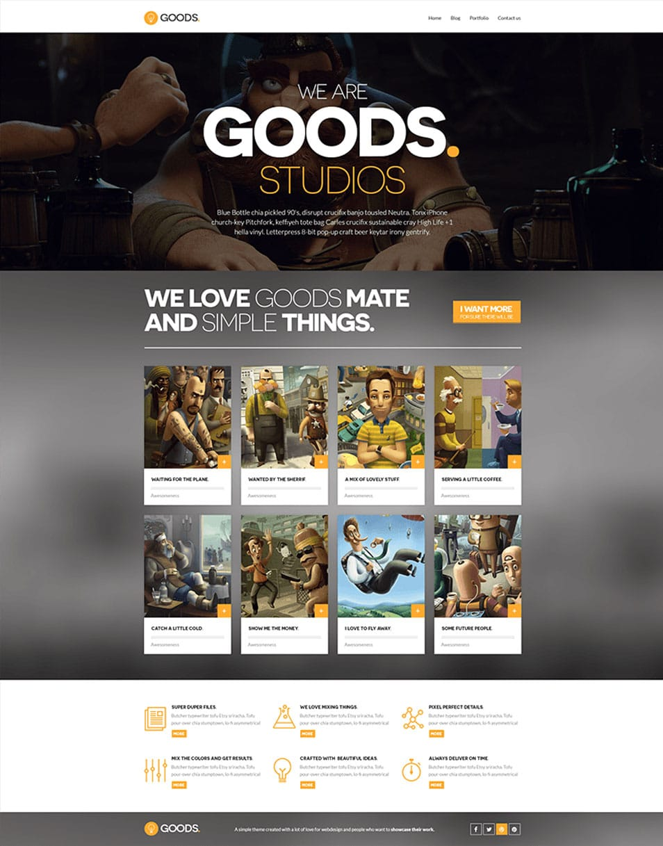 Goods Free website Template