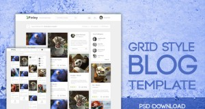 Free Grid Style Blog Template Design PSD – Freebie No: 117