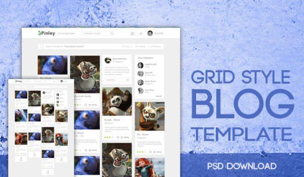 Grid Style Blog Template PSD - cssauthor.com