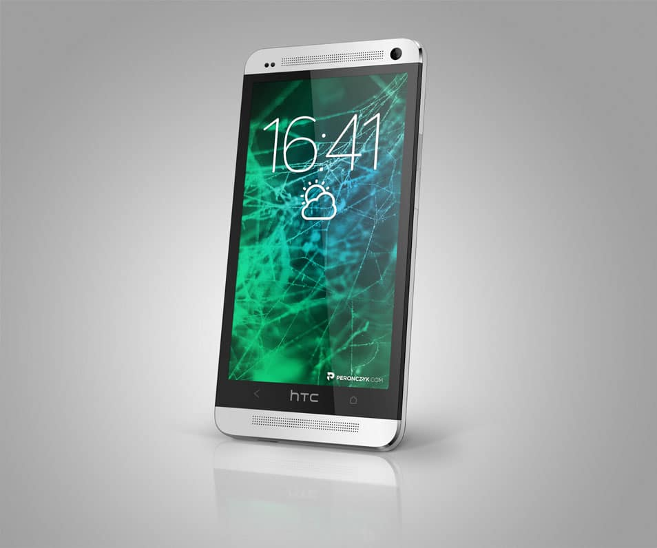 HTC One 2013 PSD mockup