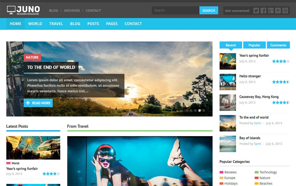 100+ Responsive Flat Style Wordpress Themes « Latest Collection