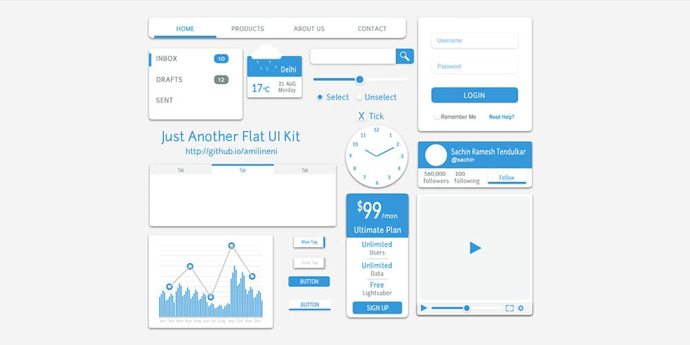 Just Another Flat UI Kit