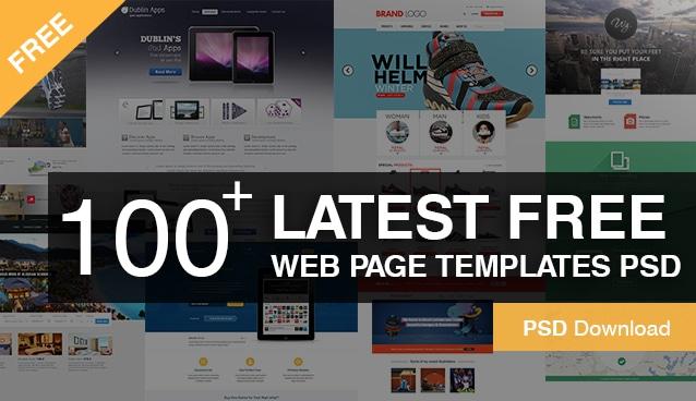 100+ Latest Free Web Page Templates PSD -Great Free web Design layouts