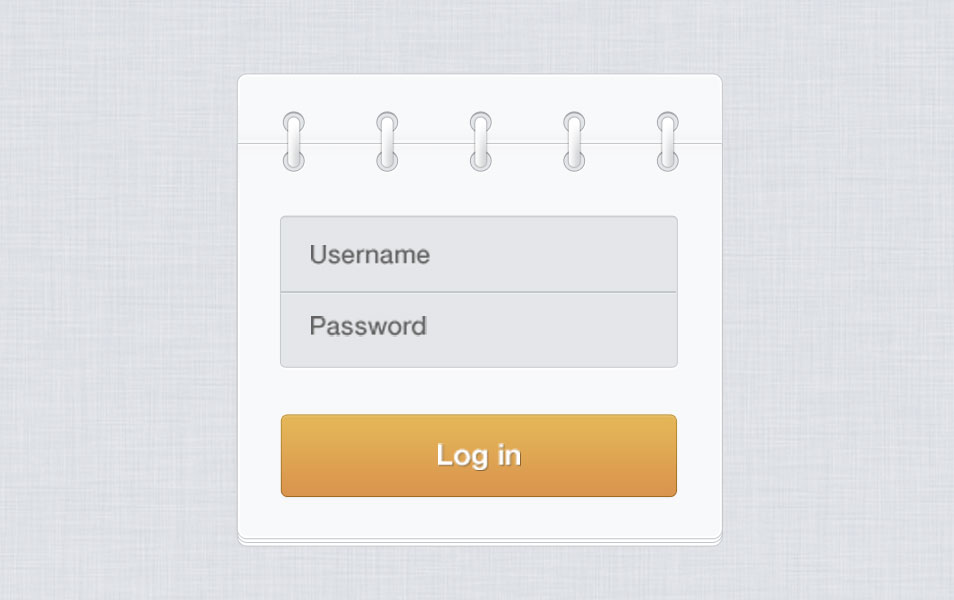 Log In Form PSD