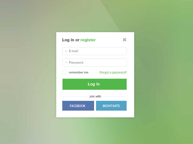 Login-Form-Free-PSD