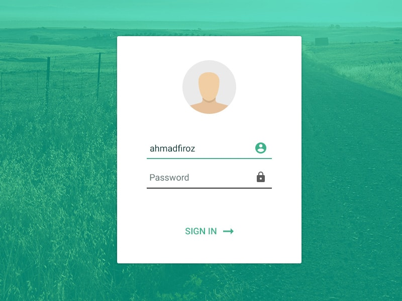Login Form UI PSD
