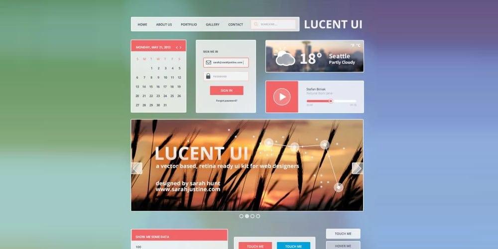 lucent-ui-kit-psd