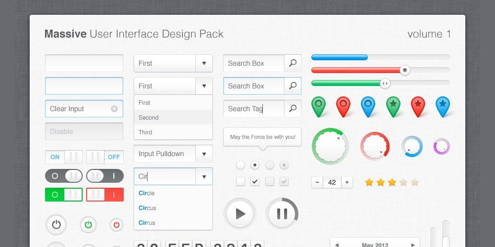 Massive UI Design Pack