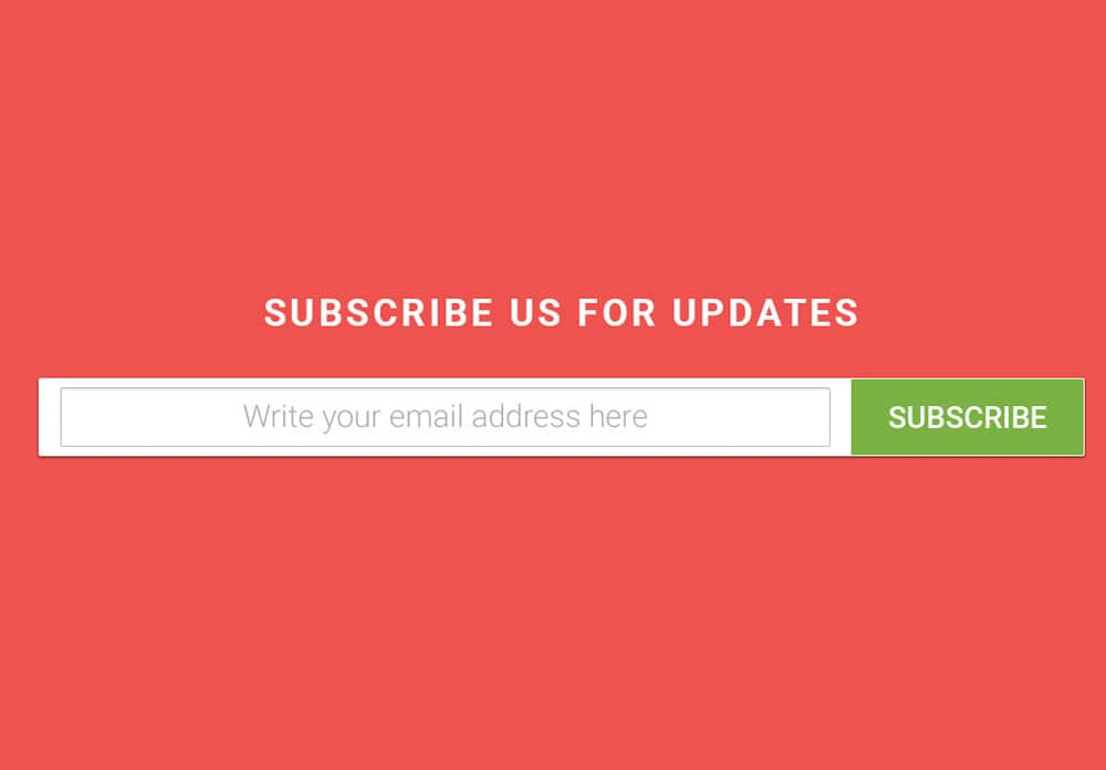 Material design subscibtion from psd