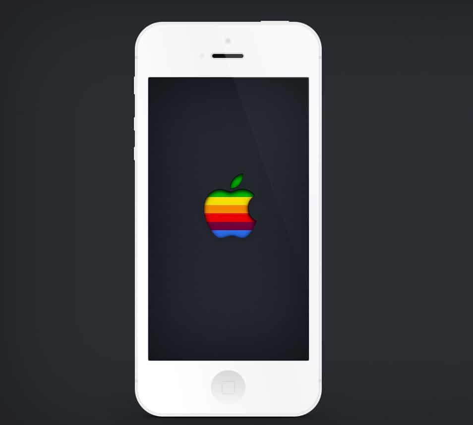 Minimal iPhone 5 PSD