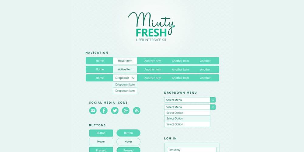 Minty Fresh UI Kit