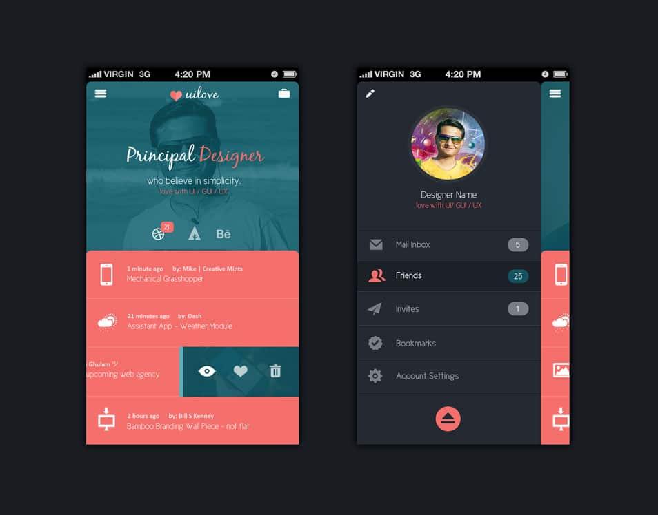 Mobile UI Free PSD