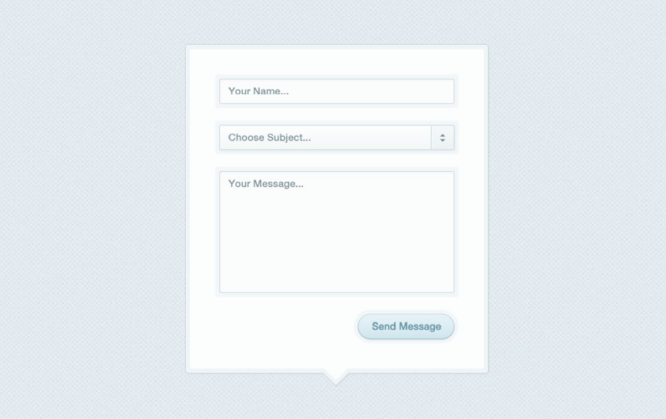 Modal Box Contact Form PSD