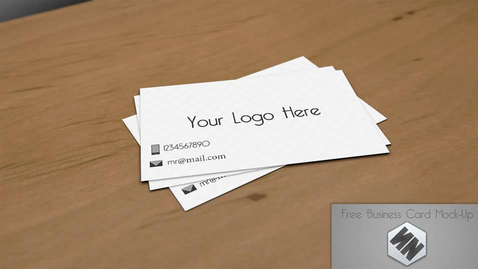 My Free Business Card Mock-up (PSD)