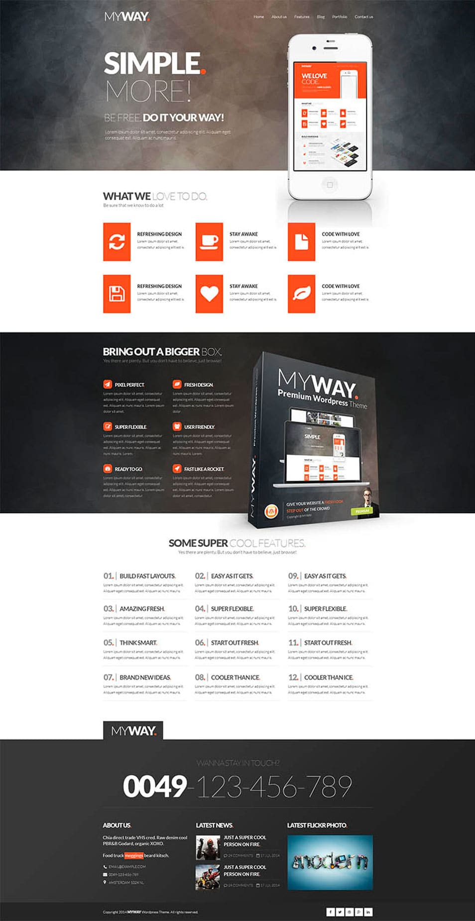 MyWay – Free PSD Template