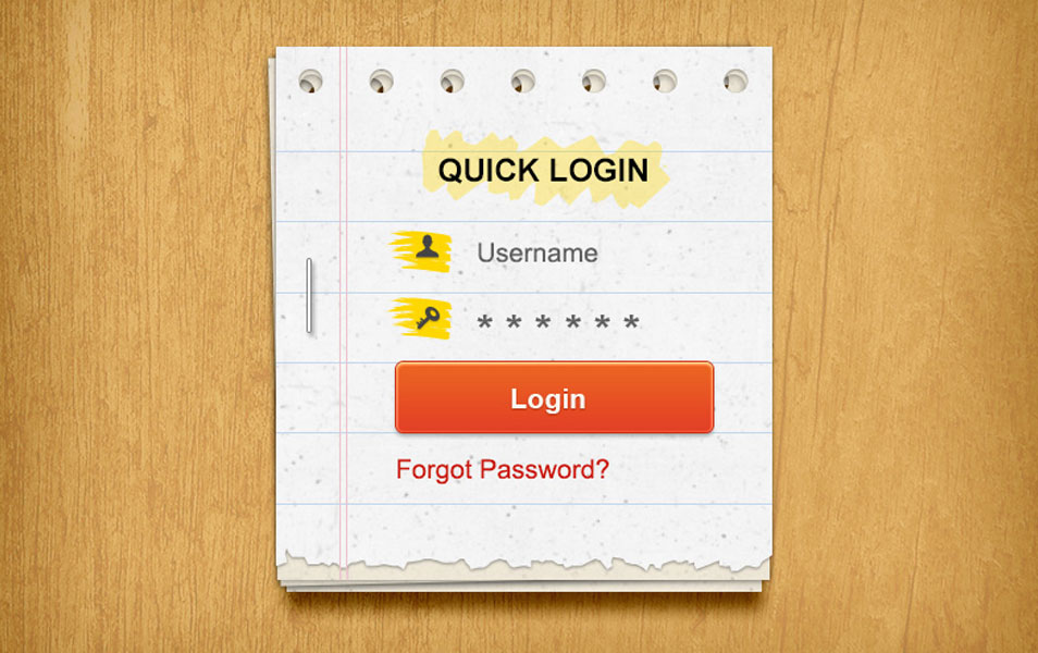 Paer Login Form